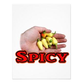 Spicy White Habanero Hot Pepper Design Invitation
