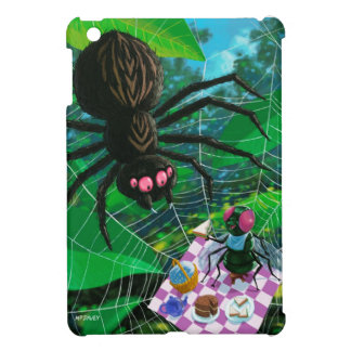 Spider and fly enjoying picnic together cover for the iPad mini