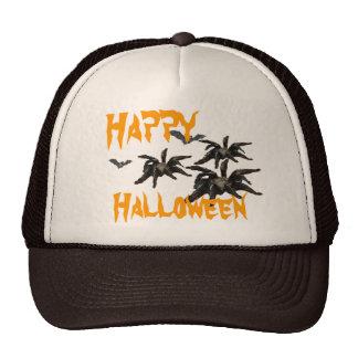 Spider and Flying Bats Hat, Happy Halloween Cap