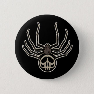 Spider and Skull Tattoo 6 Cm Round Badge