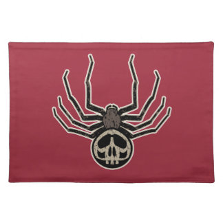 Spider and Skull Tattoo Placemat