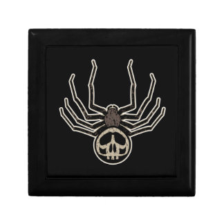 Spider and Skull Tattoo Small Square Gift Box