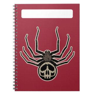 Spider and Skull Tattoo Spiral Notebook