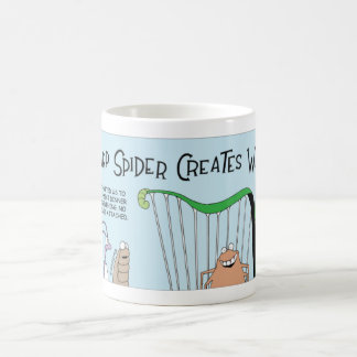 Spider and the harp coffee mug