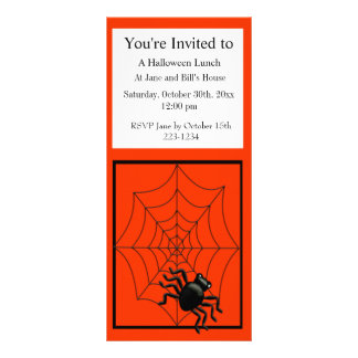 Spider and Web Halloween Rack Card