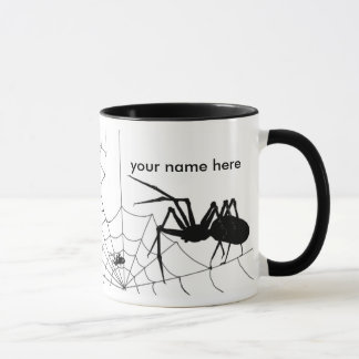 Spider and web mug - Customize add your name here