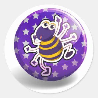 Spider badge round sticker