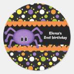 Spider Birthday Halloween Sticker