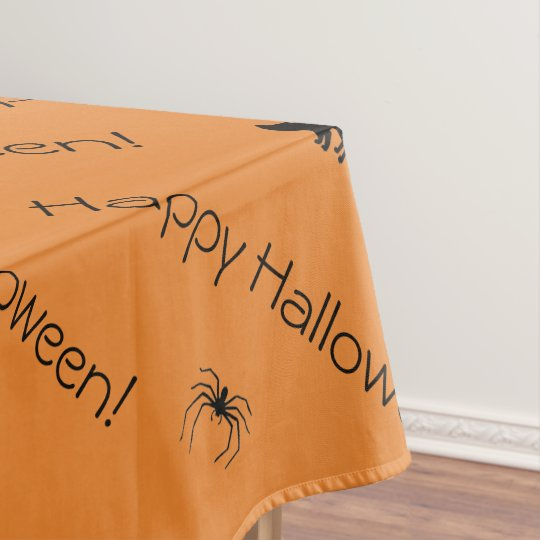 Spider Black Cat Halloween Scary Colour Designed Tablecloth