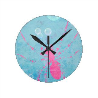 Spider Bubbles Round Clock