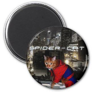 spider-cat, t2 6 cm round magnet