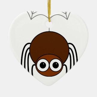Spider Ceramic Heart Decoration