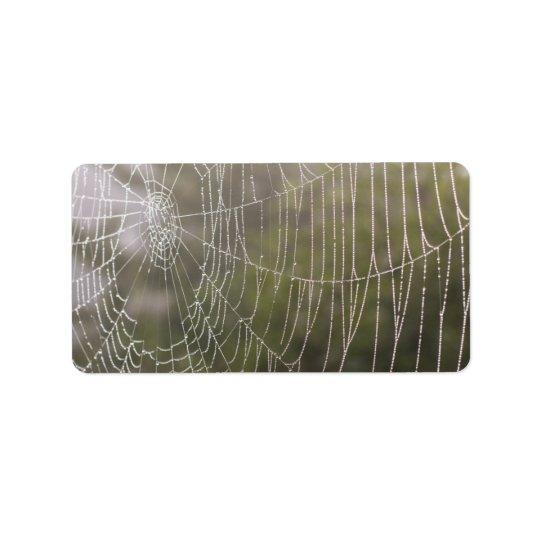 Spider Cobweb Address Label