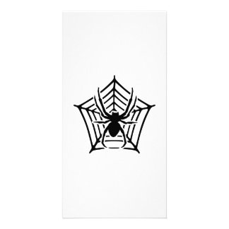 Spider cobweb personalised photo card