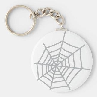 spider cobweb spiderweb key ring