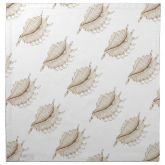 Spider Conch Shell Coloured Pencil Cloth Napkins