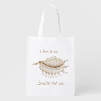 Spider Conch Shell in Colour Pencil Reusable Bag