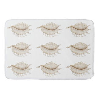 Spider Conch Shell in Coloured Pencil Bath Mat