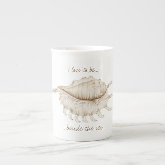 Spider Conch Shell in Coloured Pencil China Mug