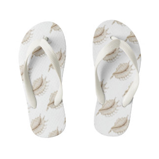 Spider Conch Shell in Coloured Pencil Flip Flops