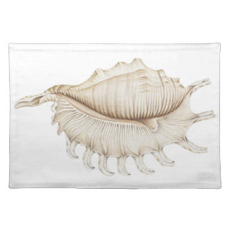 Spider Conch Shell in Coloured Pencil Placemat