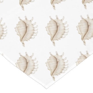 Spider Conch Shell in Coloured Pencil Table Runner