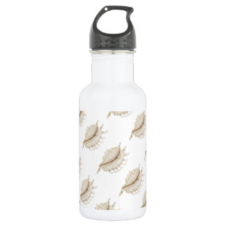 Spider Conch Shell in Coloured Pencil Water Bottle