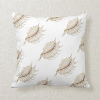 Spider Conch Shell in Pencil Polyester Cushion