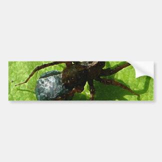 Spider Crawling on Leaf Bumper Stickers