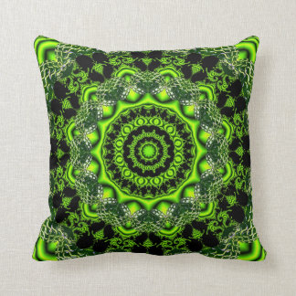 Spider Dance, Abstract Green Irish Celtic Knot Cushions