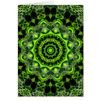 Spider Dance, Abstract Green Irish Greeting Card