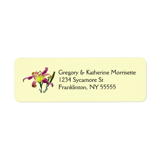 Spider Daylily Avery Return Address Labels