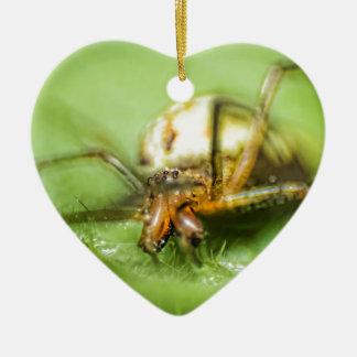 Spider Eyeeessss Ceramic Heart Decoration