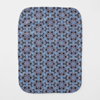 Spider Fangs Blue Gray Baby Burp Cloth