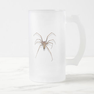 Spider Frosted Glass Mug