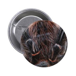 spider hair 6 cm round badge