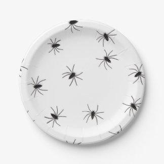 Spider Halloweeen 7 Inch Paper Plate
