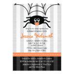 Spider Halloween Baby Shower Invitations