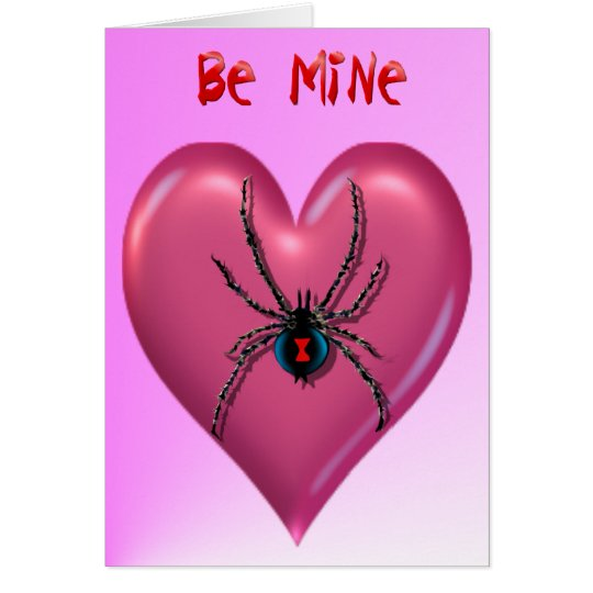 Spider Heart Valentine Card