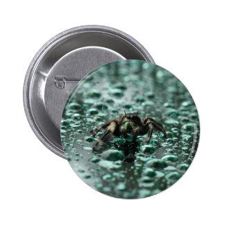 Spider in the Rain 6 Cm Round Badge