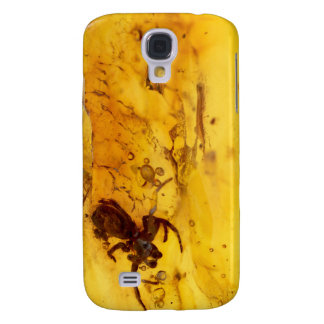 Spider inside baltic amber stone galaxy s4 case