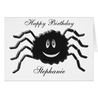 Spider Just Add Name Birthday Card