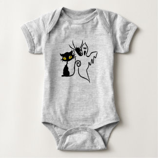 Spider, Kitten & Ghost Baby Jersey Bodysuit