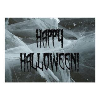 Spider Leg Halloween and Eerie Background Invite