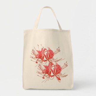 Spider Lily Shopper Canvas Bag