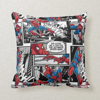 Spider-Man Comic Panel Pattern Cushion