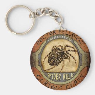 Spider Milk Basic Round Button Key Ring