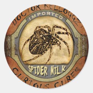 Spider Milk Round Sticker