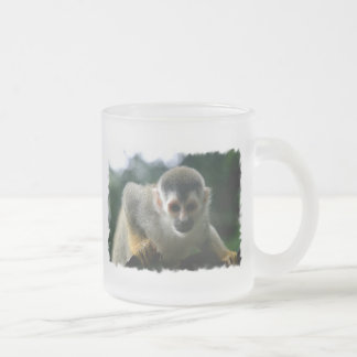 Spider Monkey Glass Coffee Mug