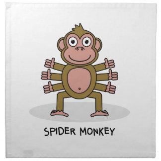 Spider Monkey Napkin